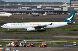 たみぃさんが、羽田空港で撮影したキャセイパシフィック航空 A330-343Xの航空フォト(飛行機 写真・画像)
