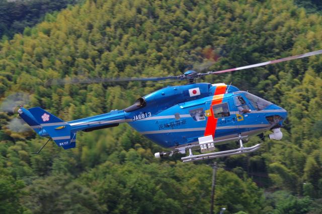 ラムさんが、静岡ヘリポートで撮影した茨城県警察 BK117C-1の航空フォト(飛行機 写真・画像)