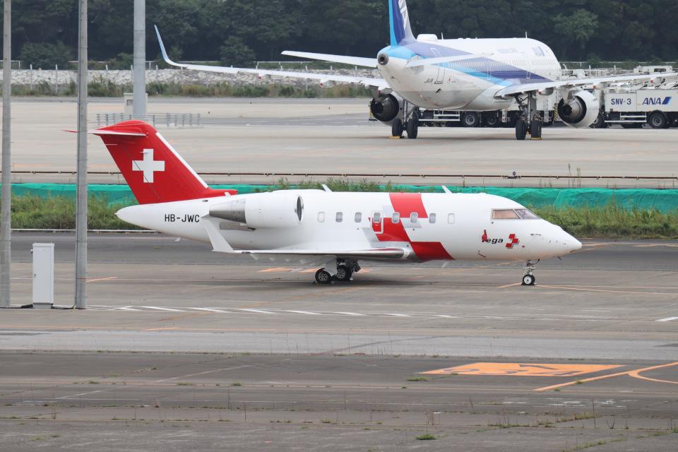 JA1118DさんのREGA スイスエア-アンビュランス Bombardier Challenger 650 (HB-JWC) 航空フォト
