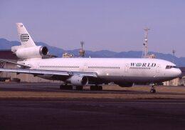 F-4さんが、横田基地で撮影したワールド・エアウェイズ MD-11の航空フォト(飛行機 写真・画像)