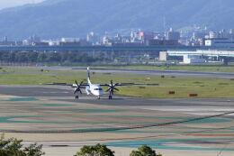 mocohide☆さんが、福岡空港で撮影したANAウイングス DHC-8-402Q Dash 8の航空フォト(飛行機 写真・画像)