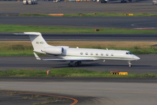 たまさんが、羽田空港で撮影したヨーロピアン・フライト・サービス G-V-SP Gulfstream G550の航空フォト(飛行機 写真・画像)