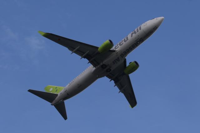 サリーちゃんのパパさんが、羽田空港で撮影したソラシド エア 737-81Dの航空フォト(飛行機 写真・画像)