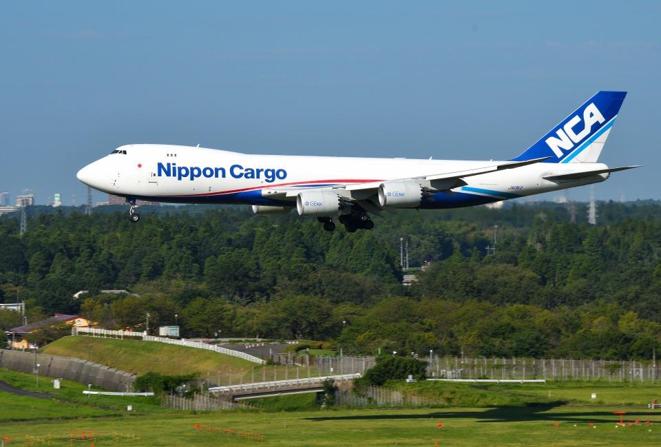 mojioさんの日本貨物航空 Boeing 747-8 (JA13KZ) 航空フォト