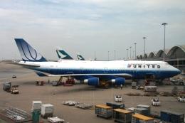 Hiro-hiroさんが、香港国際空港で撮影したユナイテッド航空 747-451の航空フォト(飛行機 写真・画像)
