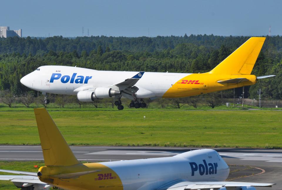 mojioさんのポーラーエアカーゴ Boeing 747-400 (N452PA) 航空フォト