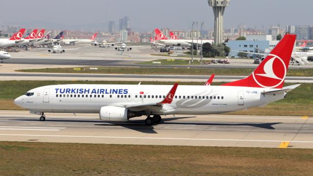 誘喜さんが、アタテュルク国際空港で撮影したターキッシュ・エアラインズ 737-8F2の航空フォト(飛行機 写真・画像)