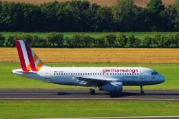 ちっとろむさんが、ウィーン国際空港で撮影したジャーマンウィングス A319-132の航空フォト(飛行機 写真・画像)