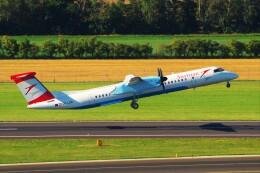 ちっとろむさんが、ウィーン国際空港で撮影したオーストリア航空 DHC-8-402Q Dash 8の航空フォト(飛行機 写真・画像)