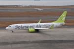 turenoアカクロさんが、中部国際空港で撮影したソラシド エア 737-81Dの航空フォト(飛行機 写真・画像)