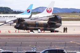 triton@blueさんが、岡山空港で撮影した陸上自衛隊 CH-47Jの航空フォト(飛行機 写真・画像)
