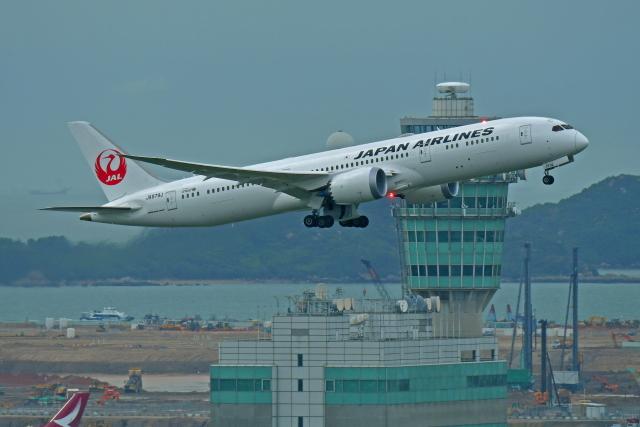 Souma2005さんが、香港国際空港で撮影した日本航空 787-9の航空フォト(飛行機 写真・画像)