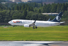 mojioさんが、成田国際空港で撮影した山東航空 737-85Nの航空フォト(飛行機 写真・画像)