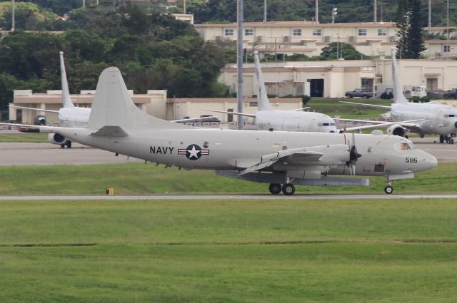 キイロイトリさんが、嘉手納飛行場で撮影したアメリカ海軍 P-3C BMUPの航空フォト(飛行機 写真・画像)