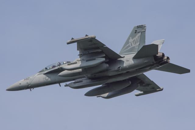 西風さんが、三沢飛行場で撮影したアメリカ海軍 EA-18G Growlerの航空フォト(飛行機 写真・画像)