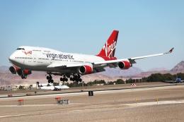 takoyanさんが、マッカラン国際空港で撮影したヴァージン・アトランティック航空 747-443の航空フォト(飛行機 写真・画像)
