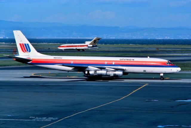 パール大山さんが、サンフランシスコ国際空港で撮影したユナイテッド航空 DC-8-54AF Jet Traderの航空フォト(飛行機 写真・画像)