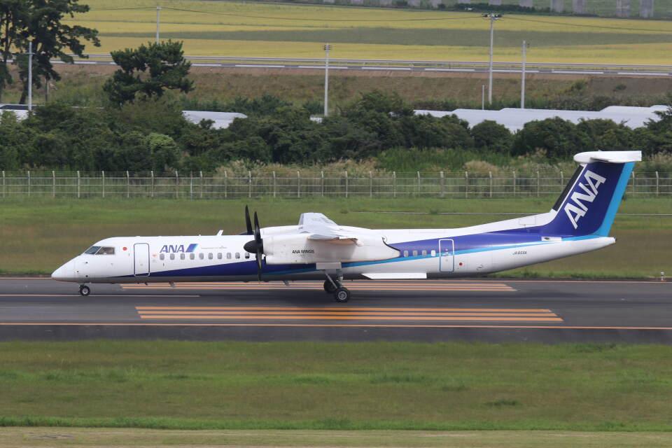 プルシアンブルーさんのANAウイングス Bombardier DHC-8-400 (JA855A) 航空フォト