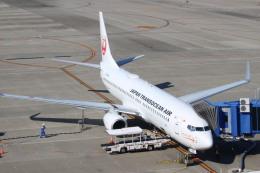 すーぱーばりとくさんが、中部国際空港で撮影した日本トランスオーシャン航空 737-8Q3の航空フォト(飛行機 写真・画像)