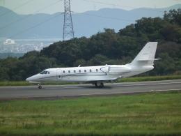 ヒコーキグモさんが、岡山空港で撮影したノエビア 680 Citation Sovereignの航空フォト(飛行機 写真・画像)