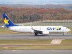 むらさめさんが、新千歳空港で撮影したスカイマーク 737-8FZの航空フォト(飛行機 写真・画像)