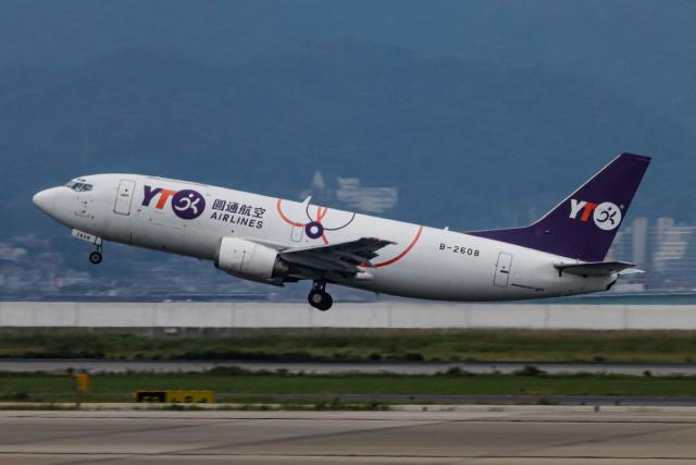 A.Tさんが、関西国際空港で撮影したYTOカーゴ・エアラインズ 737-36Q(SF)の航空フォト(飛行機 写真・画像)