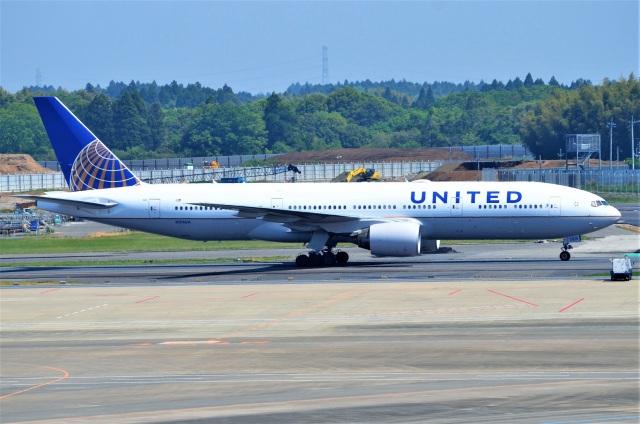 amagoさんが、成田国際空港で撮影したユナイテッド航空 777-222/ERの航空フォト(飛行機 写真・画像)