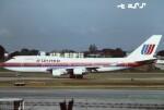tassさんが、シンガポール・チャンギ国際空港で撮影したユナイテッド航空 747-422の航空フォト(飛行機 写真・画像)