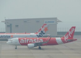 まひろさんが、中部国際空港で撮影したエアアジア・ジャパン A320-216の航空フォト(飛行機 写真・画像)