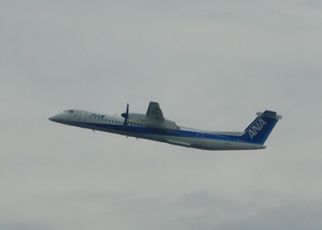 まひろさんが、中部国際空港で撮影したANAウイングス DHC-8-402Q Dash 8の航空フォト(飛行機 写真・画像)