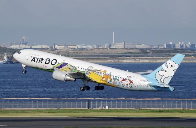 かっきーさんが、羽田空港で撮影したAIR DO 767-381の航空フォト(飛行機 写真・画像)
