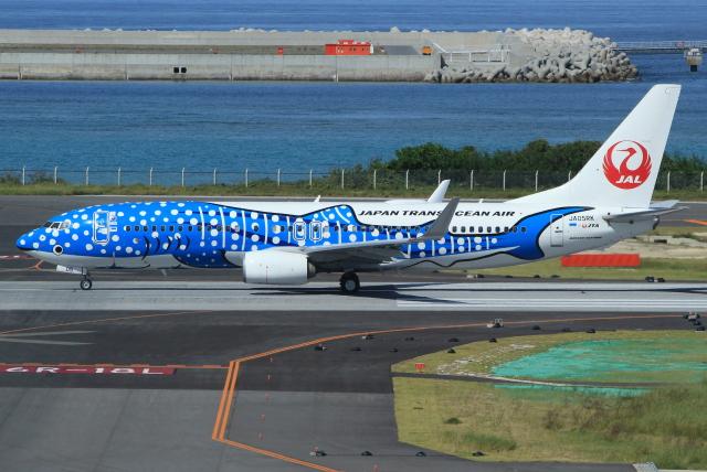 キイロイトリさんが、那覇空港で撮影した日本トランスオーシャン航空 737-8Q3の航空フォト(飛行機 写真・画像)