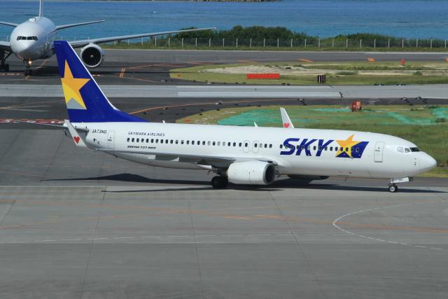 キイロイトリさんが、那覇空港で撮影したスカイマーク 737-86Nの航空フォト(飛行機 写真・画像)