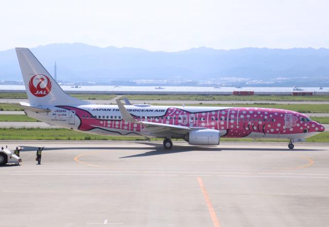 えのびよーんさんが、関西国際空港で撮影した日本トランスオーシャン航空 737-8Q3の航空フォト(飛行機 写真・画像)