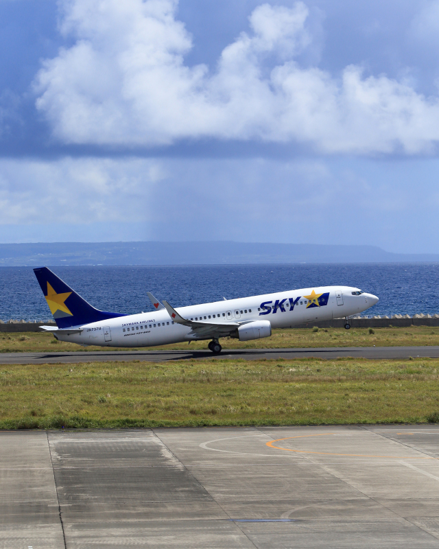 CL&CLさんが、奄美空港で撮影したスカイマーク 737-8FZの航空フォト(飛行機 写真・画像)