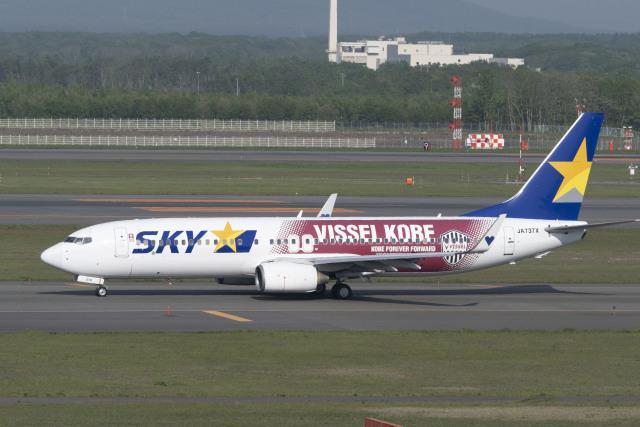 RYO13さんが、新千歳空港で撮影したスカイマーク 737-8ALの航空フォト(飛行機 写真・画像)
