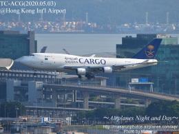 masarunphotosさんが、香港国際空港で撮影したサウディア 747-481(BDSF)の航空フォト(飛行機 写真・画像)