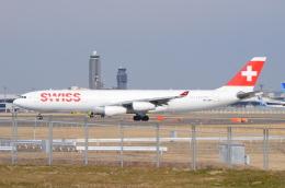 ITM58さんが、成田国際空港で撮影したスイスインターナショナルエアラインズ A340-313Xの航空フォト(飛行機 写真・画像)
