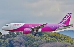鉄バスさんが、福岡空港で撮影したピーチ A320-214の航空フォト(飛行機 写真・画像)