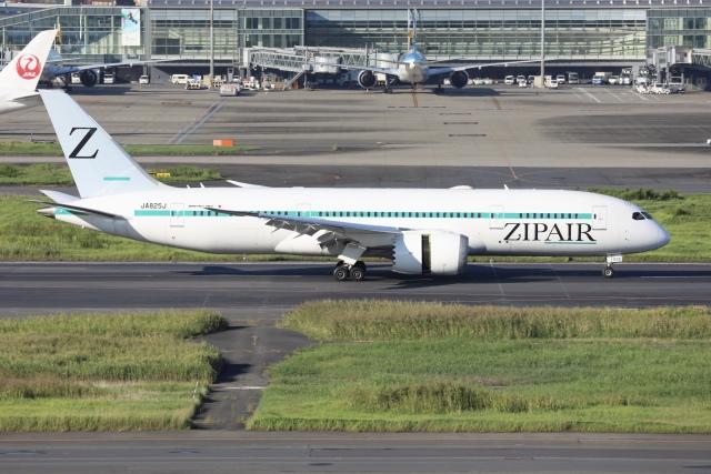 sky-spotterさんが、羽田空港で撮影したZIPAIR 787-8 Dreamlinerの航空フォト(飛行機 写真・画像)