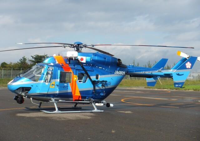 かたつむりくんさんが、花巻空港                   で撮影した岩手県警察 BK117C-1の航空フォト(飛行機 写真・画像)