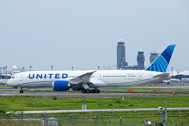 SGR RT 改さんが、成田国際空港で撮影したユナイテッド航空 787-9の航空フォト(飛行機 写真・画像)