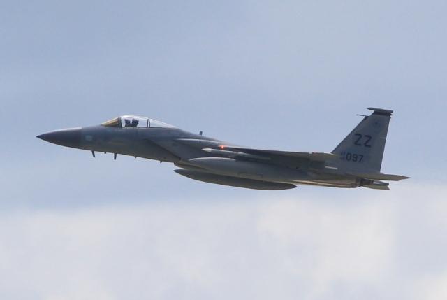 キイロイトリさんが、嘉手納飛行場で撮影したアメリカ空軍 F-15C-39-MC Eagleの航空フォト(飛行機 写真・画像)
