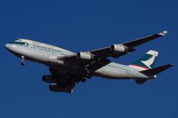 じゃがさんが、成田国際空港で撮影したキャセイパシフィック航空 747-467の航空フォト(飛行機 写真・画像)