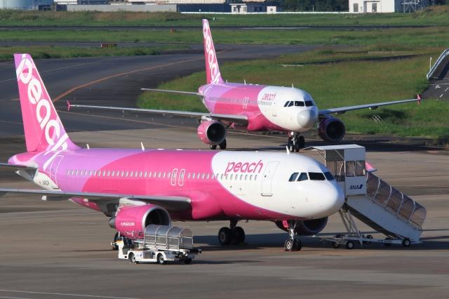 Hiro-hiroさんが、成田国際空港で撮影したピーチ A320-214の航空フォト(飛行機 写真・画像)