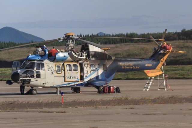 西風さんが、大館能代空港で撮影した中日本航空 AS332L Super Pumaの航空フォト(飛行機 写真・画像)