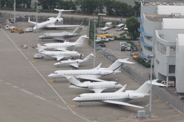 cassiopeiaさんが、香港国際空港で撮影したPrivate BD-700-1A11 Global 5000の航空フォト(飛行機 写真・画像)