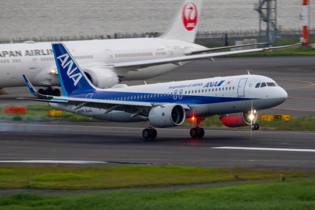 紫電さんが、羽田空港で撮影した全日空 A320-271Nの航空フォト(飛行機 写真・画像)