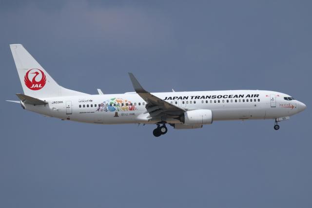 okaoka36さんが、那覇空港で撮影した日本トランスオーシャン航空 737-8Q3の航空フォト(飛行機 写真・画像)