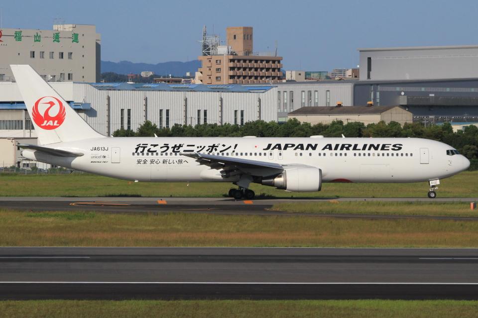 キイロイトリさんの日本航空 Boeing 767-300 (JA613J) 航空フォト